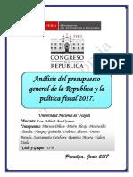 Presupuesto General de La República y La Política Fiscal (Autoguardado)