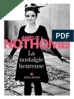 Amelie Nothomb - La Nostalgie Heureuse - Xxxxx 2013
