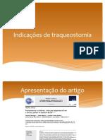 Indicações de Traqueostomia