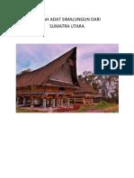 Rumah Adat Simalungun Dari Sumatra Utara