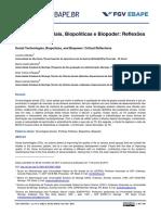 Tecnologias Sociais, Biopolíticas e Biopoder