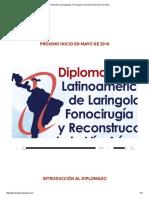 Diplomado de Laringología, Fonocirugía y Reconstrucción de La Vía Aérea Materias Para Saber