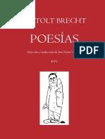 Poesias de Bertolt Brecht Por Valverde