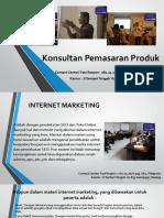 Konsultan Pemasaran Produk / Fast Respon / 0812-3262-6994