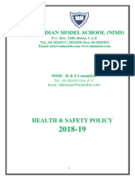 NIMS Health and Safety Policy 2018-19 (1)