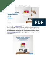 Download Gratis Harga Kalender 2019