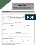 Formulario Registral N° 2