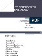 Touchless Touchscreen Technology PPT[1]