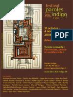 Programme Paroles Indigo 2018