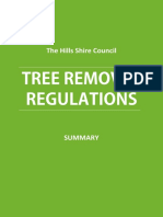 Tree Removal the Hills Shire Council Regulations - Summary[1]