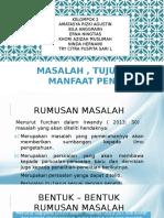 MASALAH , TUJUAN DAN MANFAAT PENELITIAN.pptx