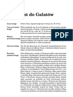 List Do Galatów - Fragment