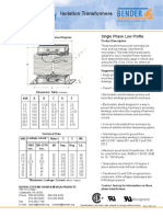 Isolation Transformer Datasheet
