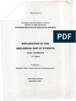 821-051-73 Explanatory Note of Geological Map Ethiopia
