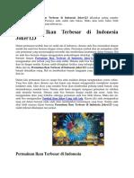 Permainan Ikan Terbesar Di Indonesia Joker123