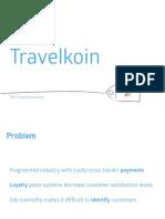 Travelkoin Pitch Deck
