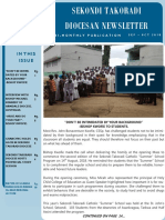 SEKONDI TAKORADI DIOCESAN NEWSLETTER (September October 2018)