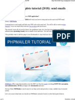 Tutorial PHP Mailer