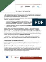 Stili di Apprendimento - Regione Piemonte - DSA