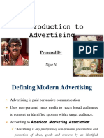 Introduction to Advertising & Integrated Marketing Communication