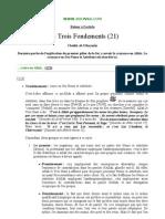 Les trois fondements n°21 (cheikh Mohammed Ibn Salih Al-Outhaymin)