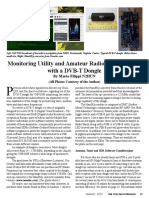 Monitoring Utility and Amateur Radio Transmissions With a Dvb t Dongle