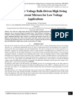 Analysis of Low Voltage Bulk-Driven High Swing Cascode Current Mirrors for Low Voltage Applications