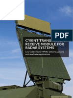 Cyient Transmit and Receive Module for Radar Systems