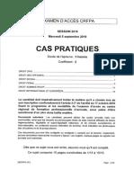 CRFPA 2018 - Epreuve de Cas pratiques