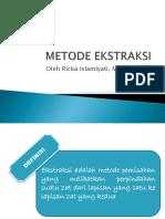 Metode Ekstraksi