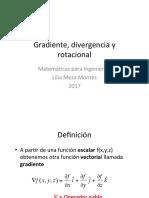Gradiente, divergencia y rotacional. Matemá4cas para Ingeniería I Lilia Meza Montes 2017.pdf