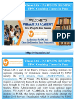 MPSC Coaching Centres In Pune | Civil Service Mains examination | Vihaan IAS Academy in Pune