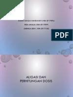 Aligasi dan Perhitungan dosis.ppt