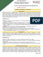 ANEXO IV – Conteúdos Programáticos e Referências - Retificação 01 (1)