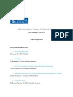 Listado de Centros de Prácticas Curso 2018-2019