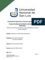 Proyecto Evaluatorio de Diseño y Resistencia de Materiales