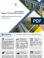 Innovative Financing to Support Massive Toll Road Development