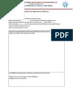 CCNAPI Grant Application for SCRN Exam