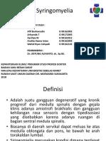 PPT Syringomyelia