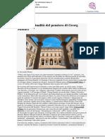 L'attualità del pensiero di Georg Simmel - Affaritaliani.it, 16 ottobre 2017