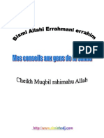 Mes Conseils Aux Gens de La Sunna (Cheikh Muqbil)