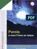 Parole à mon Frère en Islam
