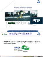 A Presentation on TATA Green Batteries