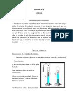 Informe de Laboratorio de Quimica Densidad de Un Cuerpo Solido