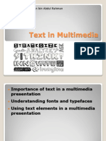 Text in Multimedia