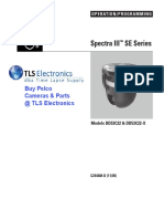 Manual da camera spectra III