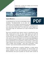 Articulo Sobre La Planificación Didáctica