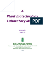 A Plant Biotechnology Laboratory Manual Tissue Culture