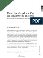 Derecho a La Educación en Contexto de Encierro Juridco