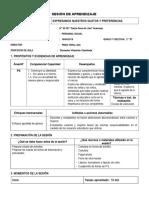 SESIONES DE APRENDIZAJE - 2°